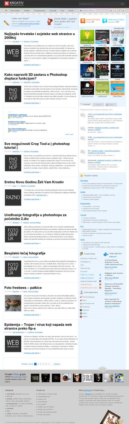 Kroativ web dizajn blog