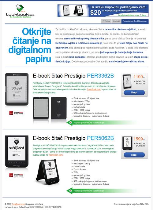 TookBook e-reader